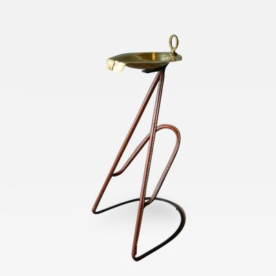 Jacques Adnet Adnet Leather Magazine Rack Ashtray