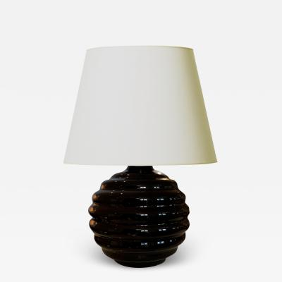 Jacques Adnet Art Deco Lobed Globe Opaline Lamp in the Style of Jacques Adnet