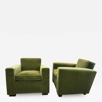 Jacques Adnet Club Chairs