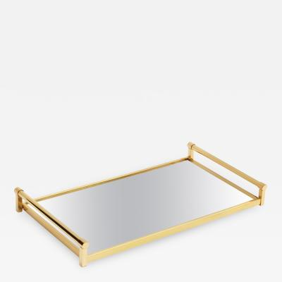Jacques Adnet Compagnie Des Arts Francais Brass Drinks Serving Tray