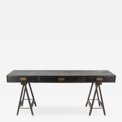 Jacques Adnet Exceptional console or desk by Jacques Adnet