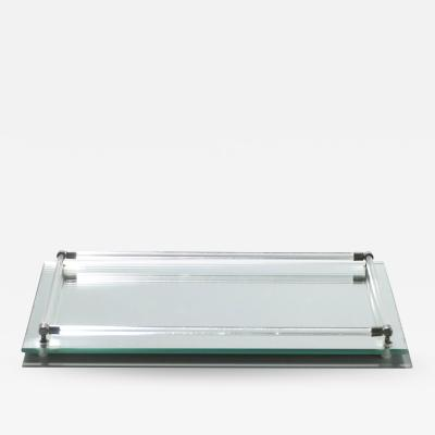 Jacques Adnet French Mid century mirrored tray style of Jacques Adnet 1940s