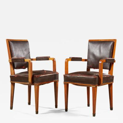 Jacques Adnet JACQUES ADNET 1900 1984 CIRCA 1940 1950 SUITE OF TWELVE ARMCHAIRS