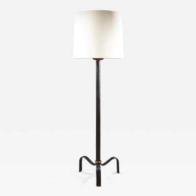 Jacques Adnet JACQUES ADNET 1900 1984 CIRCA 1950 MID CENTURY LEATHER FLOOR LAMP