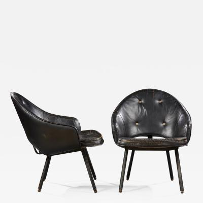 Jacques Adnet JACQUES ADNET 1900 1984 PAIR OF ARMCHAIRS CIRCA 1960