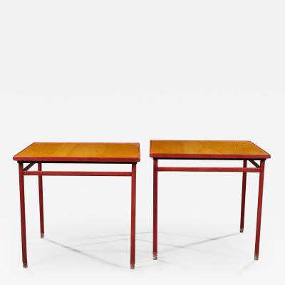 Jacques Adnet JACQUES ADNET 1900 1984 PAIR OF TABLES CIRCA 1950