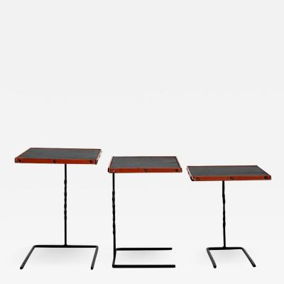 Jacques Adnet JACQUES ADNET NESTING TABLES