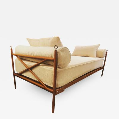 Jacques Adnet Jacques ADNET 1900 1984 Bed forming a bench Daybed Circa 1950