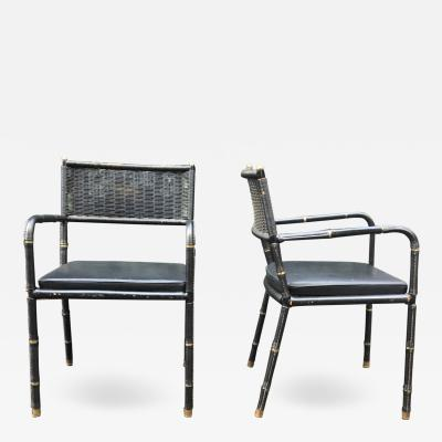 Jacques Adnet Jacques Adnet 1900 1984 Pair Of Armchairs Circa 1950