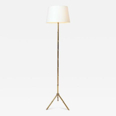Jacques Adnet Jacques Adnet Brass Floor Lamp c 1950