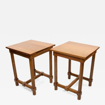 Jacques Adnet Jacques Adnet France a Pair of High End Tables Light Oak circa 1960