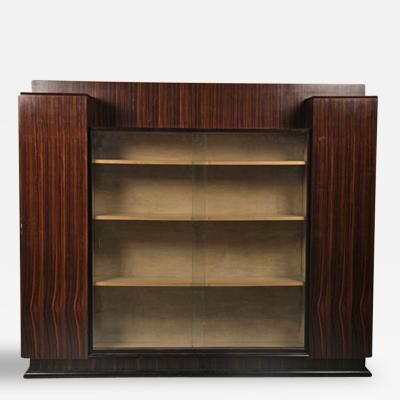 Jacques Adnet Jacques Adnet French Modernist Art Deco Bookcase