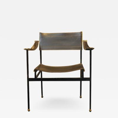 Jacques Adnet Jacques Adnet Leather Armchair Circa 1950