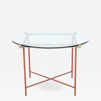 Jacques Adnet Jacques Adnet Leather Covered Brass Centre Table
