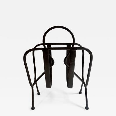 Jacques Adnet Jacques Adnet Leather Magazine Rack
