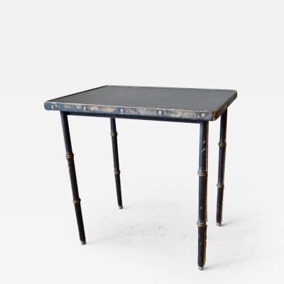 Jacques Adnet Jacques Adnet Leather Side Table