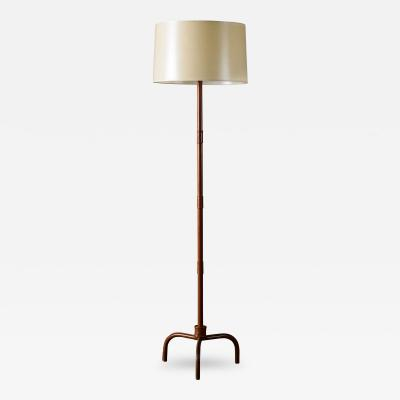 Jacques Adnet Jacques Adnet Leather Wrapped Lamp