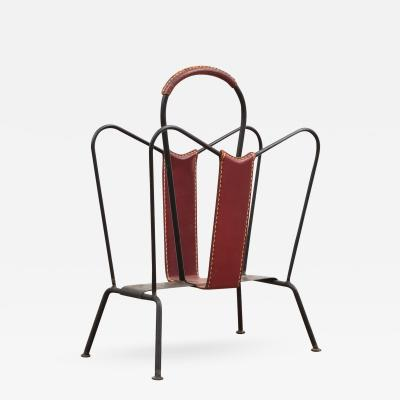 Jacques Adnet Jacques Adnet Magazine Rack France 1950s
