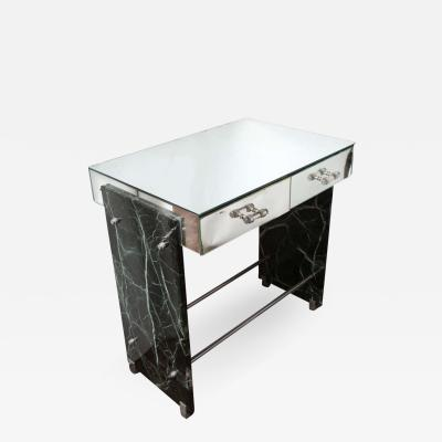 Jacques Adnet Jacques Adnet Marble Chrome and Mirror Vanity Desk