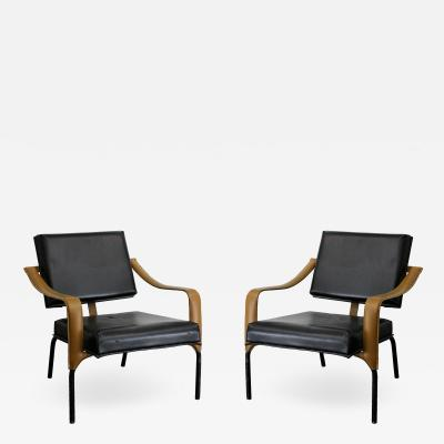 Jacques Adnet Jacques Adnet Mercier Original Pair of Chairs 1955