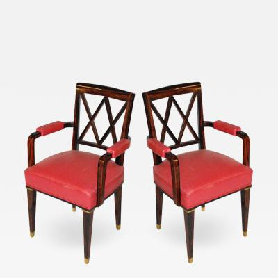 Jacques Adnet Jacques Adnet Pair of Armchairs