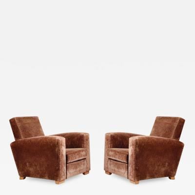 Jacques Adnet Jacques Adnet Pair of Modernist Club Chairs