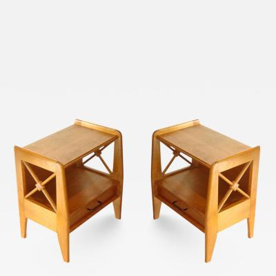 Jacques Adnet Jacques Adnet Pair of Side Sofa Tables