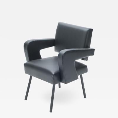 Jacques Adnet Jacques Adnet President leatherette armchair 1959