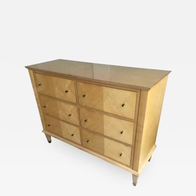 Jacques Adnet Jacques Adnet Pure Sycamore 6 Drawers Chest