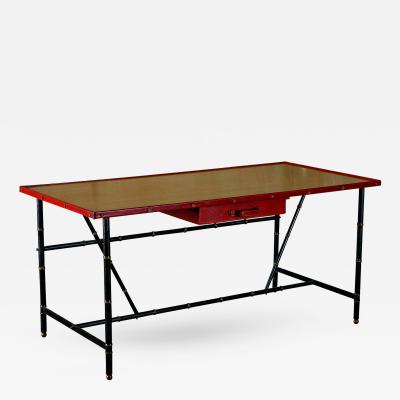 Jacques Adnet Jacques Adnet Saddle Leather Desk 1950s