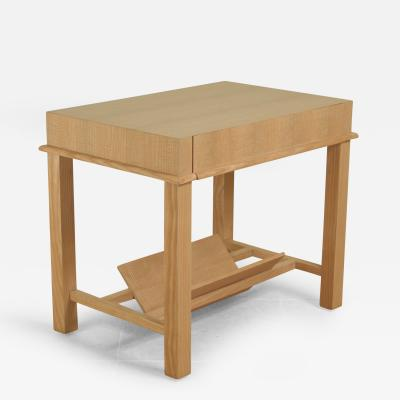 Jacques Adnet Jacques Adnet Side Table in Figured Ash
