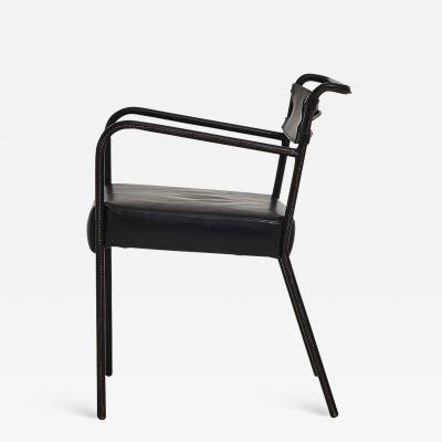 Jacques Adnet Jacques Adnet Stitched Leather Chair France 1940