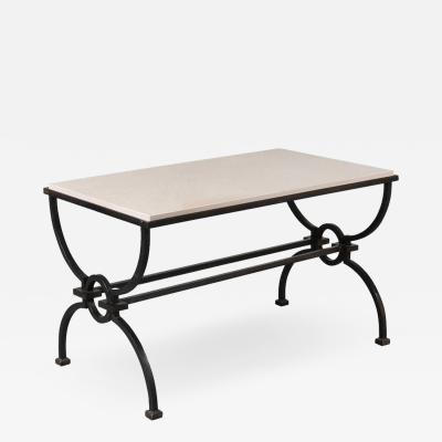 Jacques Adnet Jacques Adnet and Gilbert Poillerat Coffee Table France circa 1942