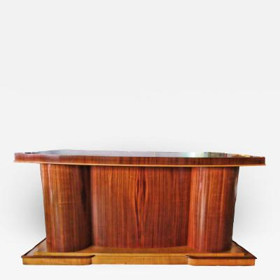 Jacques Adnet Jacques Adnet attributed Rosewood Mahogany and Fruitwood Desk France