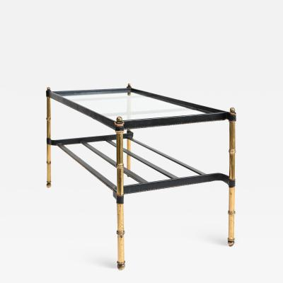 Jacques Adnet Jacques Adnet leather wrapped low table