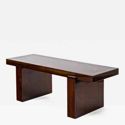 Jacques Adnet Jacques Adnet modernist pure design walnut burl art deco coffee table