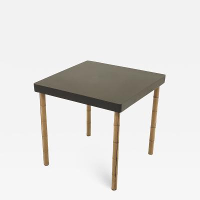 Jacques Adnet Jacques Adnet neutral hand stitched leather coffee table