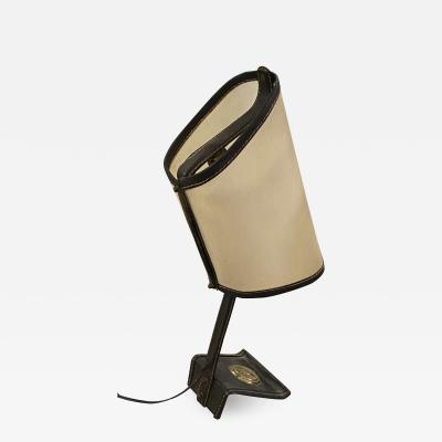 Jacques Adnet Jacques Adnet rarest table lamp in vintage condition
