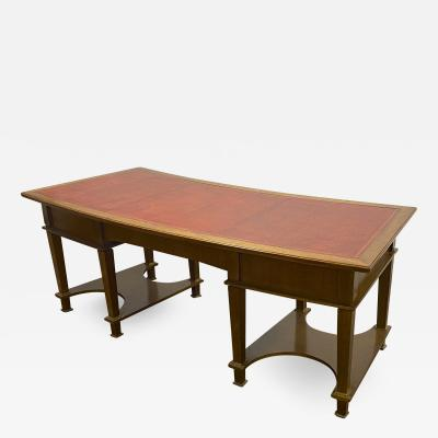 Jacques Adnet Jacques Adnet superb curved Neo classical desk
