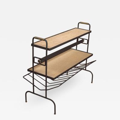 Jacques Adnet Magazine Rack Table Shelf