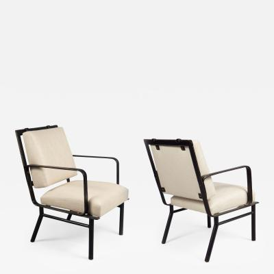 Jacques Adnet Pair of Armchairs Attributed to Jacques Adnet 1901 1984 France 1950