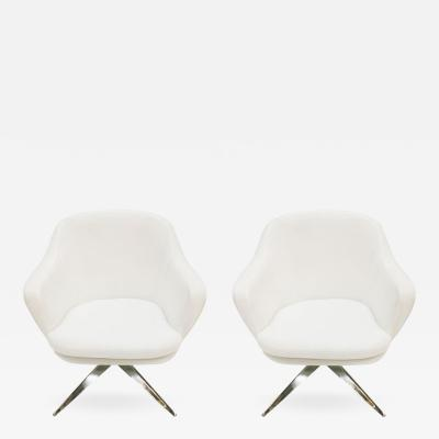 Jacques Adnet Pair of Chairs by Jacques Adnet for Air France 1960s