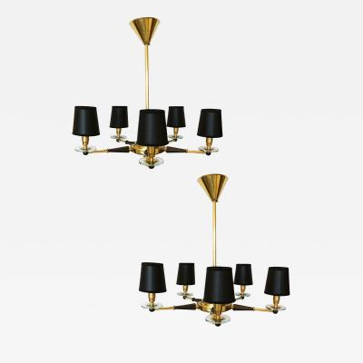 Jacques Adnet Pair of Jacques Adnet Chandekiers Circa 1950