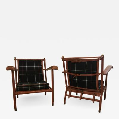 Jacques Adnet Pair of Jacques Adnet Lounge Chairs