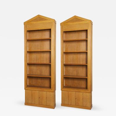 Jacques Adnet Pair of Oak Bibliotheques