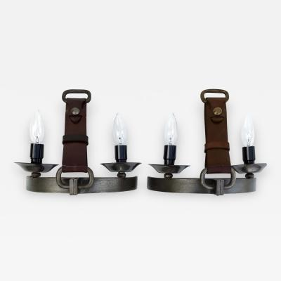 Jacques Adnet Pair of Sconces