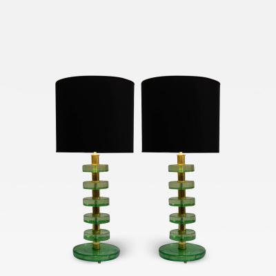 Jacques Adnet Pair of lamps in the style of Jacques Adnet