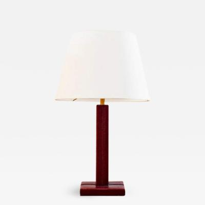 Jacques Adnet RED JACQUES ADNET STYLE TABLE LAMP