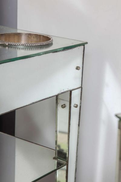 Jacques Adnet Rare Adnet Mirrored Art Deco Refraicher