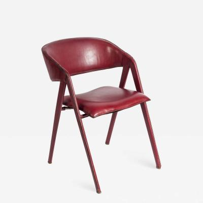Jacques Adnet Rare Stitched Leather Armchair By Jacques Adnet